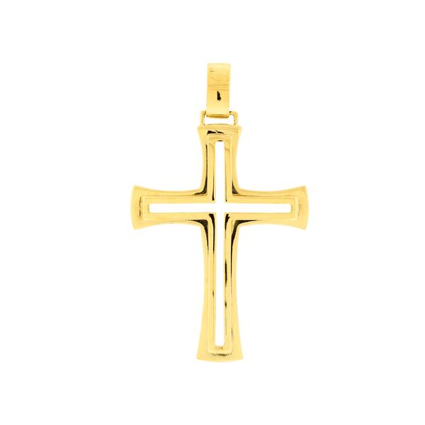 Pingente em Ouro 18K Cruz Vazada Grande