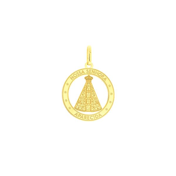 Medalha de Nossa Senhora Aparecida em Ouro 18K