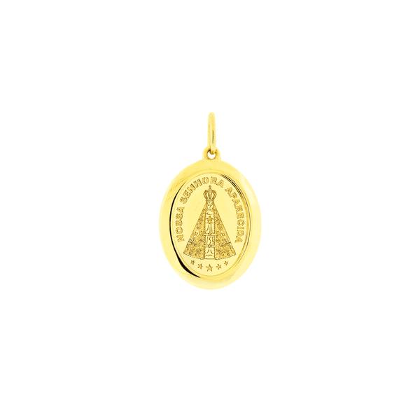 Medalha de Ouro 18K Nossa Senhora Aparecida Oval