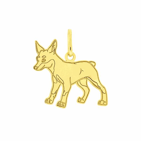 Pingente de Ouro 18K Cachorro Pinscher