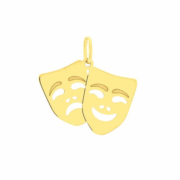 Pingente Máscara de Teatro em Ouro 18K