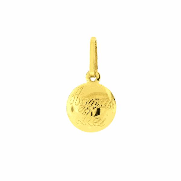 Pingente de Ouro 18K Agnus Dei