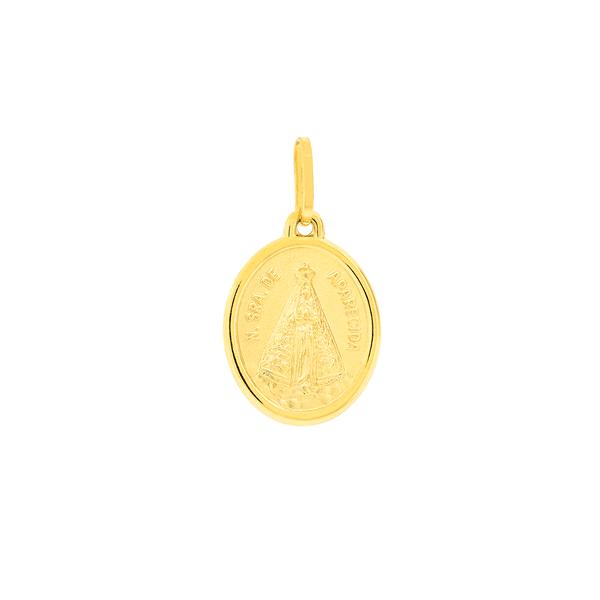 Pingente Nossa Senhora Aparecida em Ouro 18K
