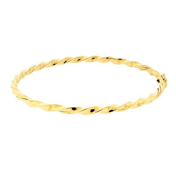 Bracelete de Ouro 18K Modelo Grosso Fio Torcido