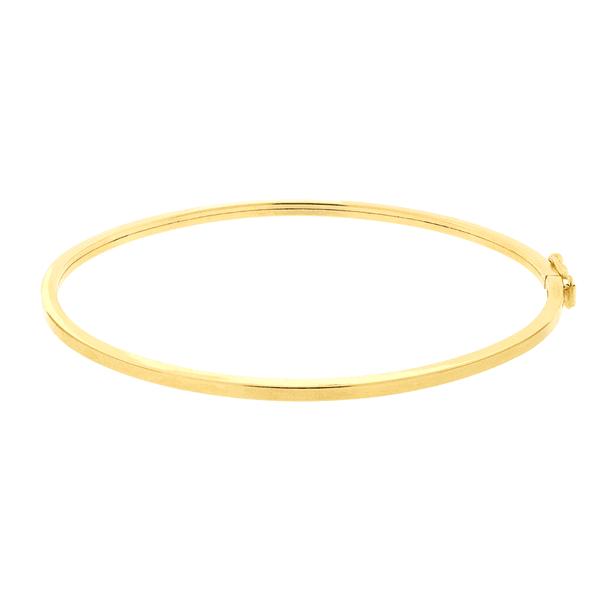 Bracelete de Ouro Amarelo 18K Feminino Fio Quadrado