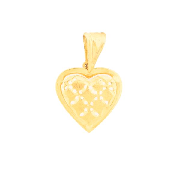 Pingente Coração Galeria em Ouro 18K