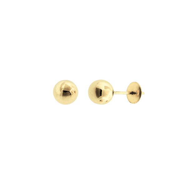 Brinco Bola em Ouro 18K - 5mm
