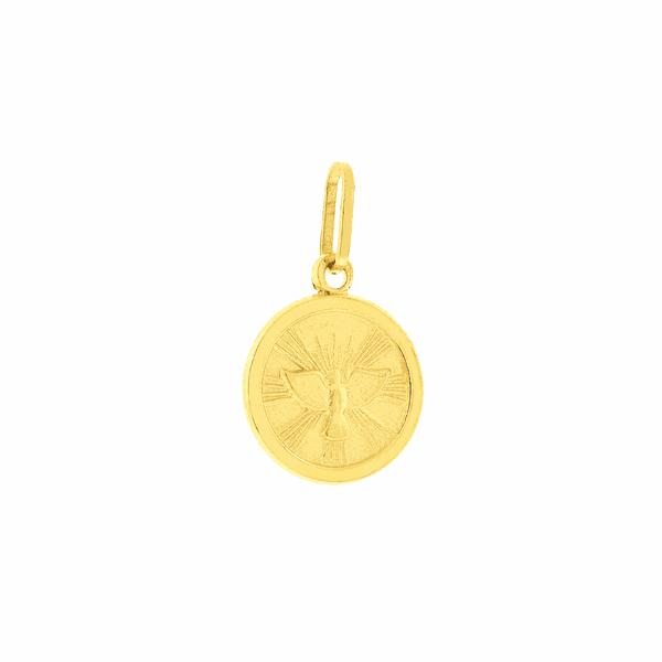 Medalha de Divino Espírito Santo em Ouro 18K Pequena