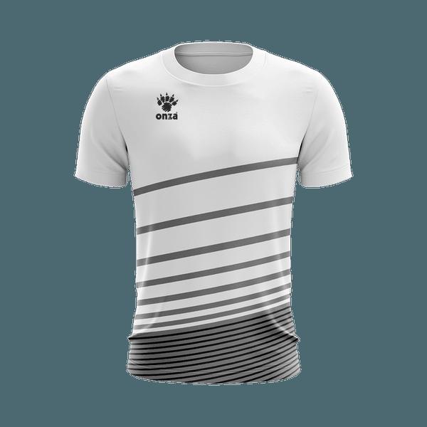 Camisa Jogo Branca com detalhes em Listras Brancas