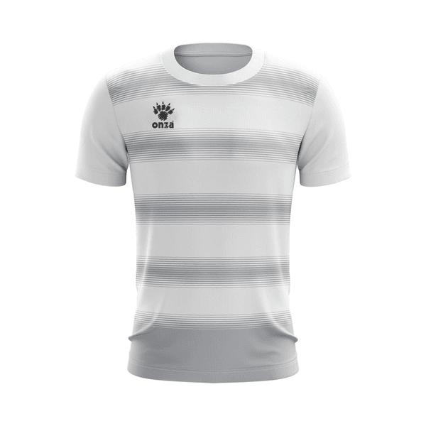 Camisa Jogo - Branca com detalhes em listras transversais