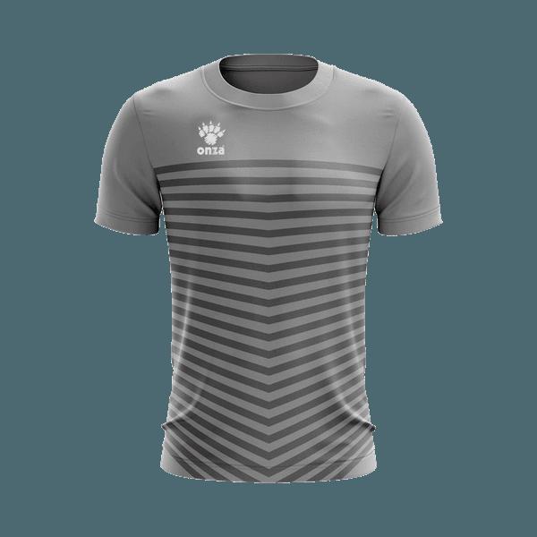Camisa Jogo - Cinza com listras horizontais