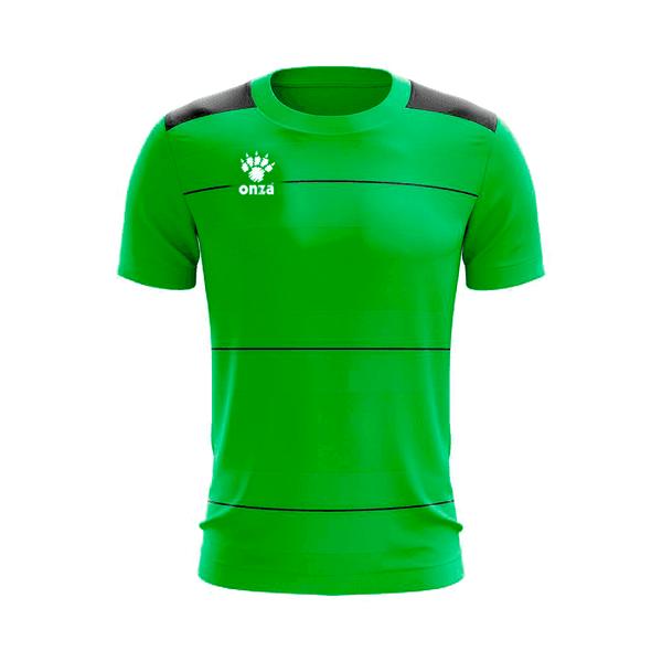 Camisa Jogo - Verde com detalhe de listra no peito