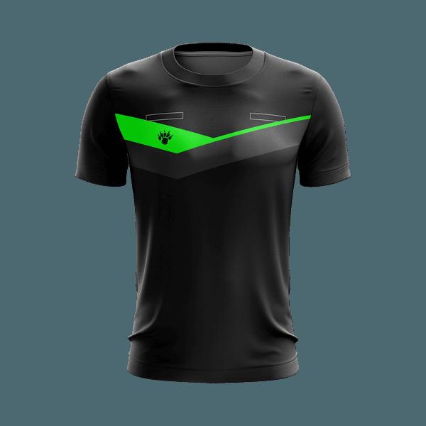 Camisa Arbitro Preta com detalhe verde