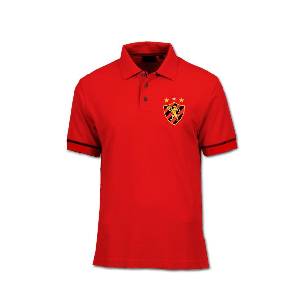 Camisa Gola Polo Torcedor - Sport Vermelha Copia