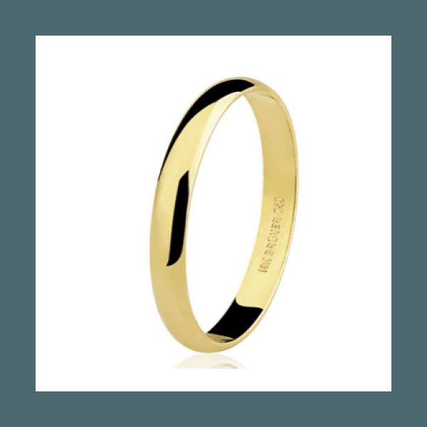 Aliança Lisa em Ouro 18k com 2,8 mm de Largura