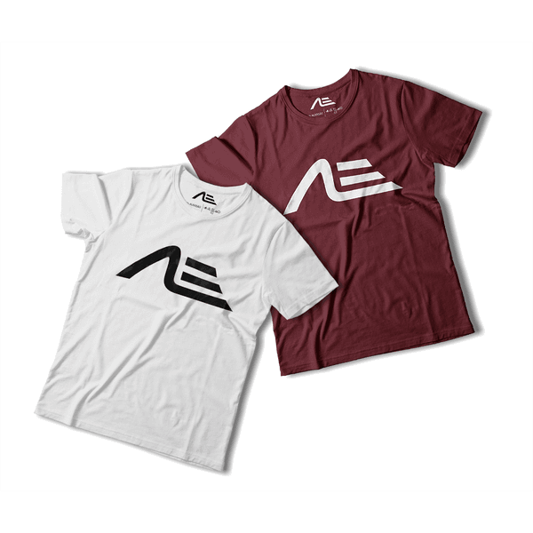Kit 2 Camisetas Masculina Adaption Branca/bordo