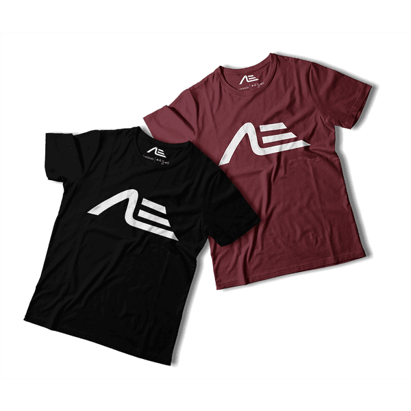 Kit 2 Camisetas Masculina Adaption Preta/bordo