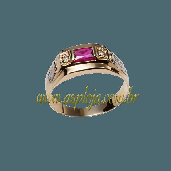 anel de formatura ouro amarelo 18K 750-ASP-AF-138