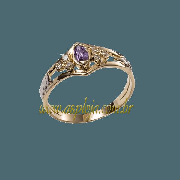anel de Formatura Ouro amarelo 18k 750-ASP-AF-193
