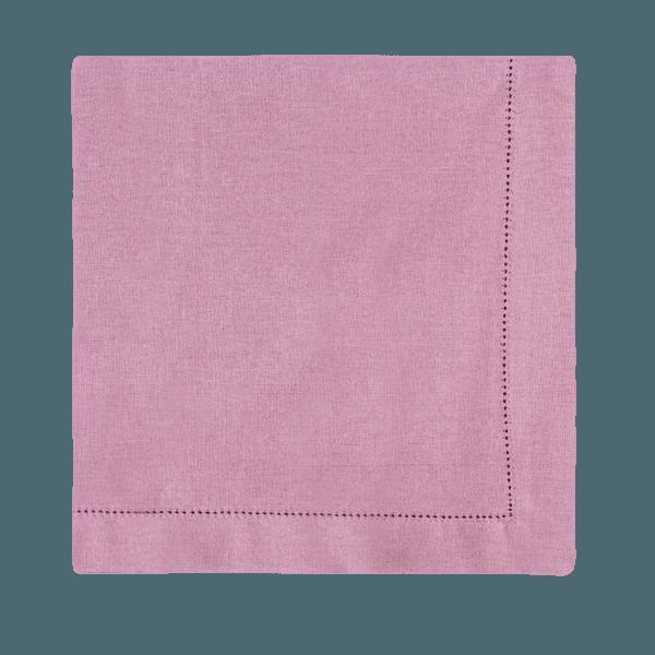 Guardanapo de linho rosa queimado