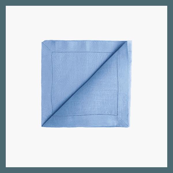 Guardanapo Cambraia de Linho Azul Claro