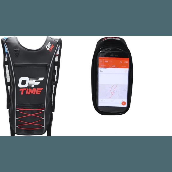 Kit Mochila de Hidratação Térmica 2 Litros +Bolsa Quadro Celular Smartphone Iphone Média Offtime