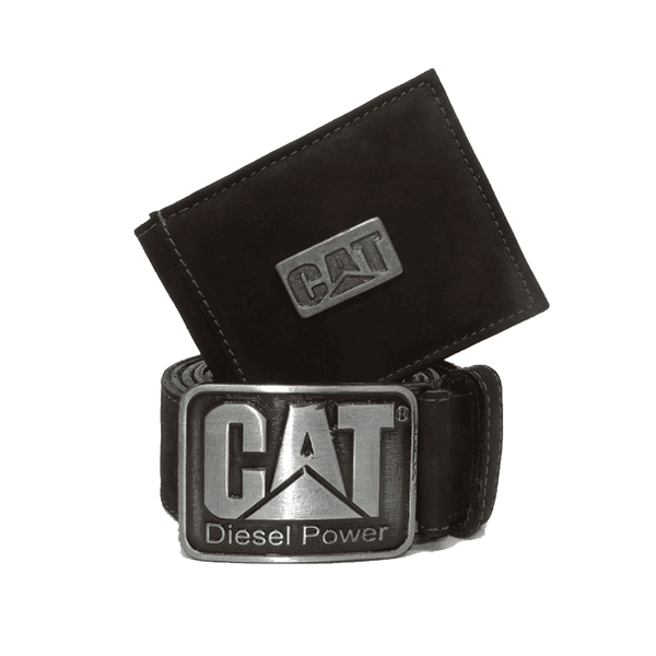 Kit Carteira + Cinto Cat - Café