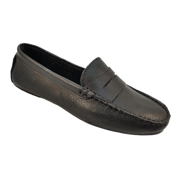 Sapato Mocassim Feminino em Couro Preto