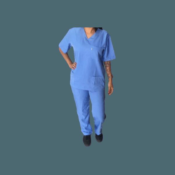Conjunto Cirúrgico UNISSEX em Microfibra - Azul Glace