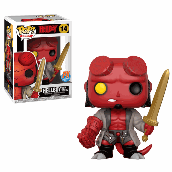 Hellboy With Sword Pxpreviews Exclusive #14 Funko Pop