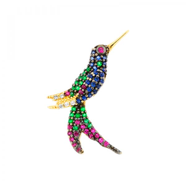 Pingente De Ouro 18k Beija-flor