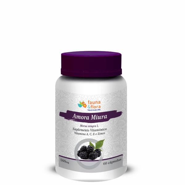Amora Miura Vitamina A, C E e Zinco 500mg - 60 cápsulas
