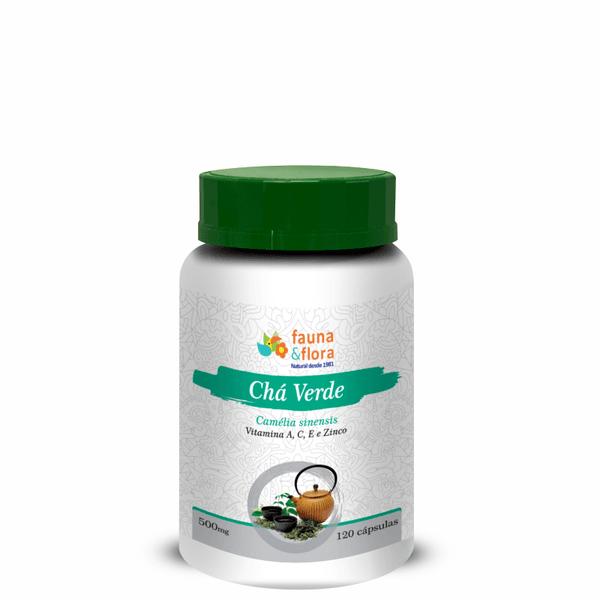 Chá Verde Diurético com Vitaminas A, C, E e Zinco 500mg 120caps