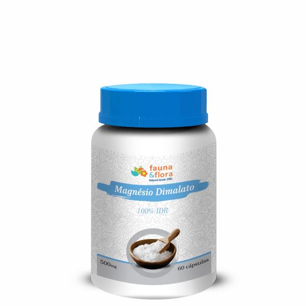 Magnésio Dimalato 100% IDR 500mg - 60 cápsulas