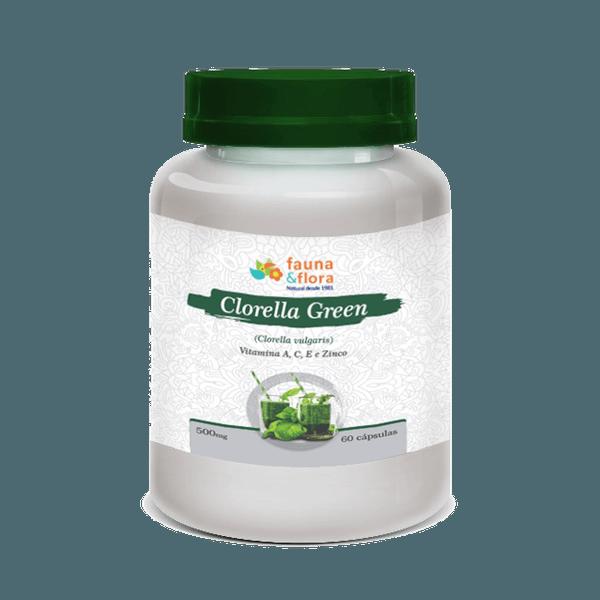 Clorella Green Vitaminas A C E Zinco 500mg 60 Caps