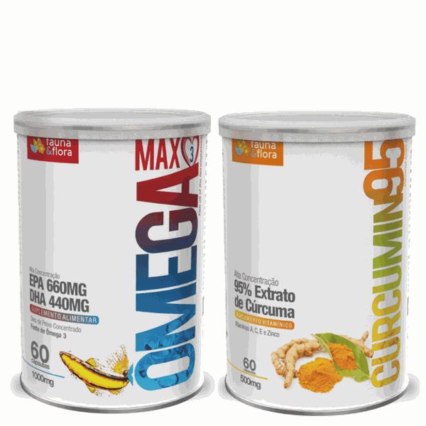 Kit Ômega 3 Max Concentrado 1000mg + Curcumin 95 500mg