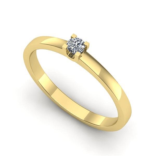 Anel Solitário de Diamante Duque de Caxias