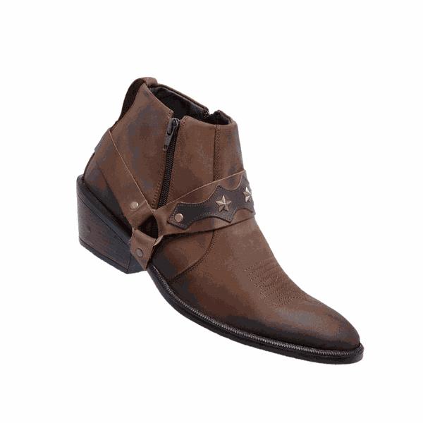Bota masculina estilo country – Linha Americana 8096 – Brown