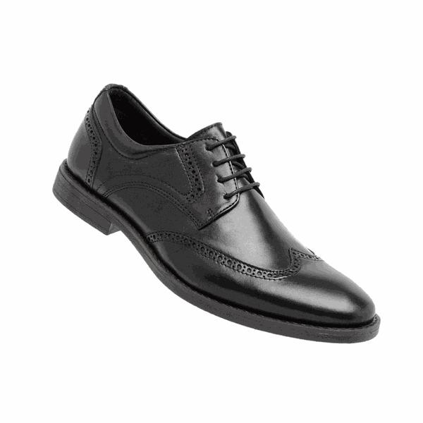 Sapato Social Couro Confort Linha Toro 9200 - Preto