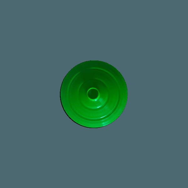 Tampa para Copo Long 350ml c/ canudo - Caixa com 50 tampas e canudos Transparentes  VERDE