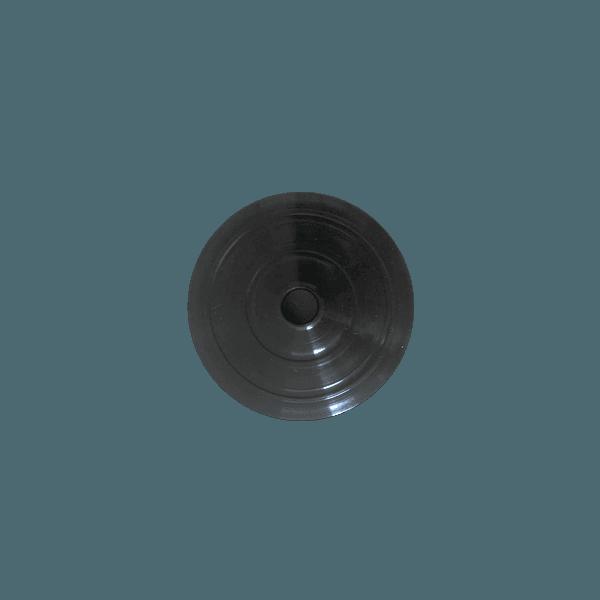 Tampa para Copo Twister 700ml c/ canudo - Caixa com 50 tampas e canudos Transparentes | PRETO