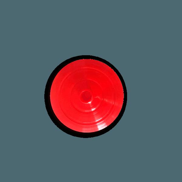 Tampa para Copo Long 350ml c/ canudo - Caixa com 50 tampas e canudos Transparentes | VERMELHO