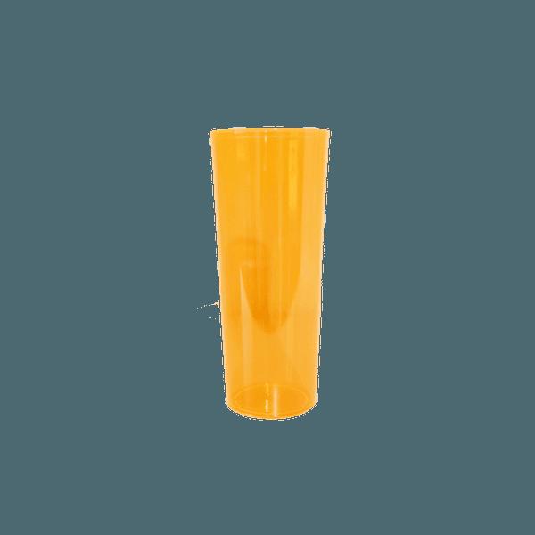 Copo Long Drink Laranja Neon - Caixa com 100 unidades