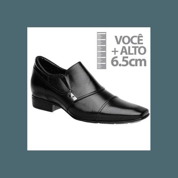 Sapato com Salto Interno Jota Pe Preto Grow Air