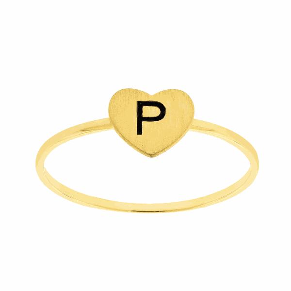 Anel de Ouro 18K com Letra P