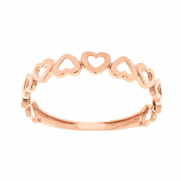 Anel de Coração em Ouro Rosé 18K
