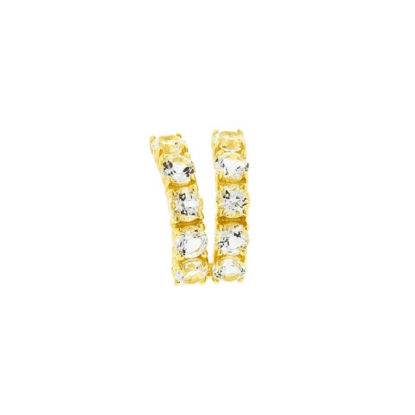 Piercing de Orelha Ouro 18K com Pedras