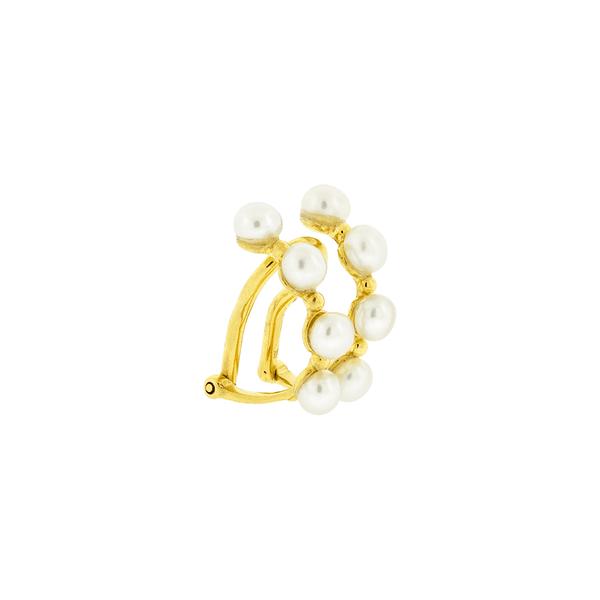 Piercing de Orelha Ouro 18K com Pérolas