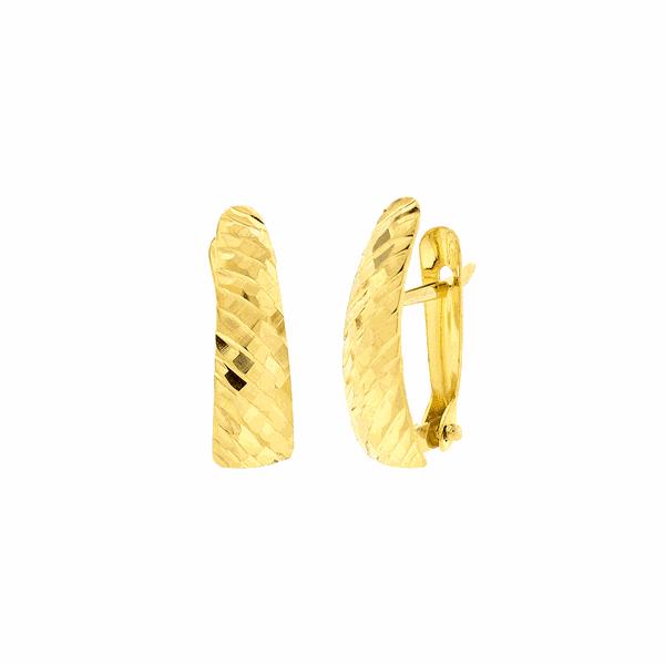 Brinco Feminino de Ouro Amarelo 18K Diamantado