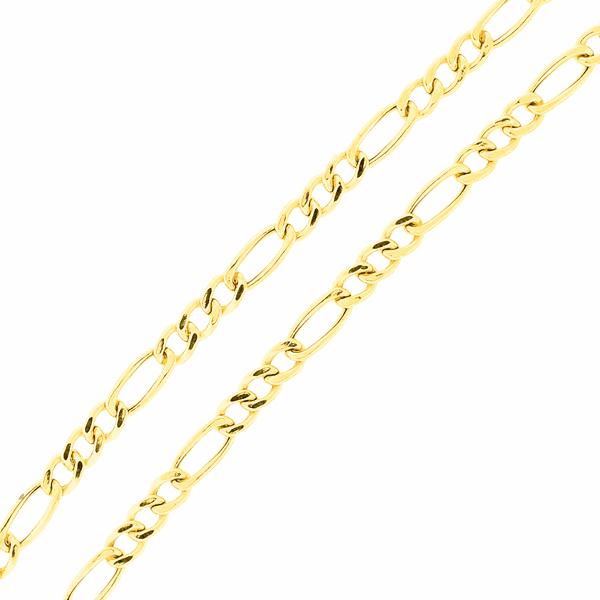 Corrente Ouro 18K Malha 3x1 60cm Média